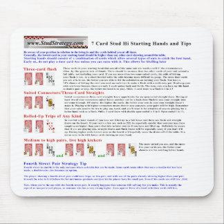 7 Stud Starting Hi-Hand & Tips Mousepad