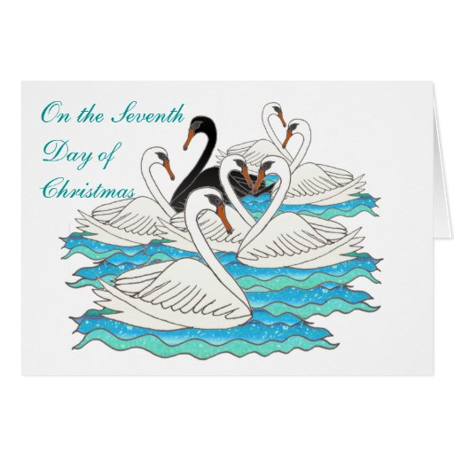7 Swans aSwimming Greeting Card