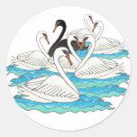 7 Swans aSwimming Sticker