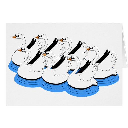 7 Swans Swimming Cards