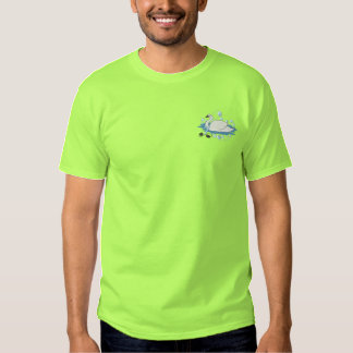 7 Swans Swimming Embroidered T-Shirt