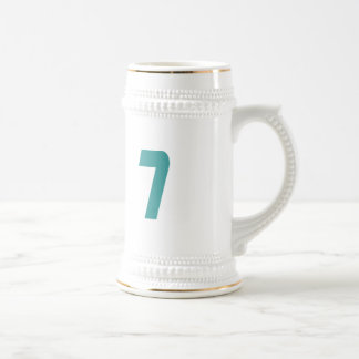 #7 Teal Bold Beer Stein