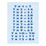 #7 Times Table Collectible Postcard