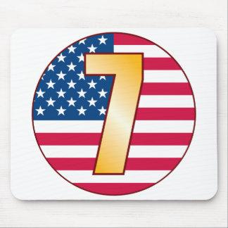 7 USA Gold Mouse Pad