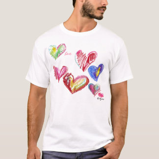 7 Valentine Hearts Soar T-shirt/ Apparel T-Shirt