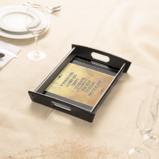 7 Words For A Long and Happy Marriage Serving Tray
