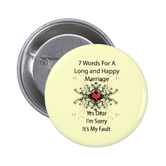 7 Words For A Long Marriage Button