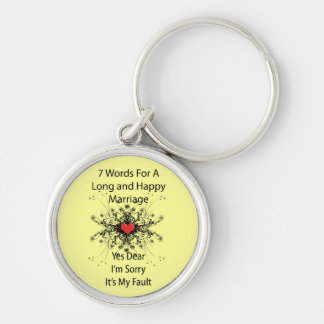 7 Words For A Long Marriage Keychain