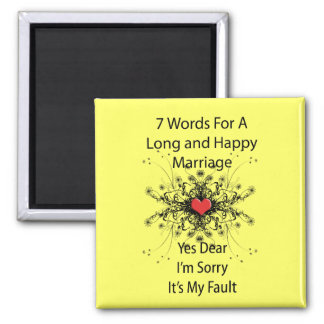 7 Words For A Long Marriage Magnet
