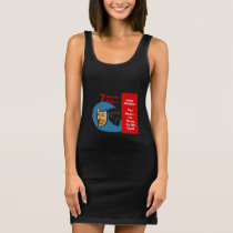 7 Words for Happy Husband- Yes Dear- I'm Sorry  - Sleeveless Dress