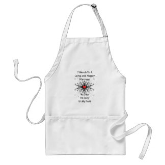 7 Words To A Long Marriage Adult Apron