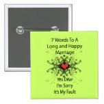 7 Words To A Long Marriage Buttons