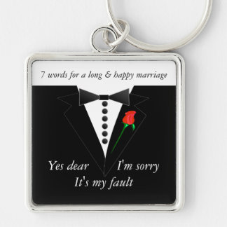 7 Words To A Long Marriage & Happy Marriage Keychain