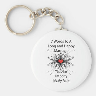 7 Words To A Long Marriage Keychain