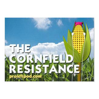 7 x 5 Folding Card - The Cornfield Resistance