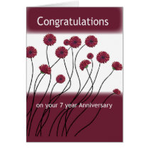 7 Year Anniversary 12 Step Recovery Flowers Card