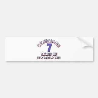 7 year gift designs bumper sticker