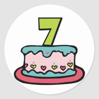 7 Year Old Birthday Cake Gifts on Zazzle