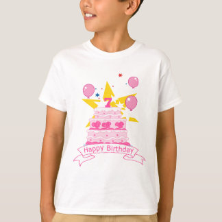 7 Year Old Birthday Cake T-Shirt