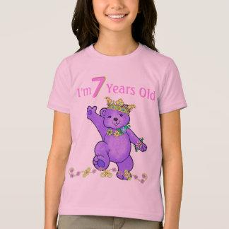7 Year Old Birthday Princess Bear T-Shirt