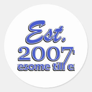 7 year old designs classic round sticker