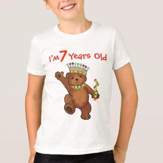 7 Year Old Royal Bear Birthday T-Shirt