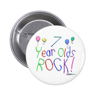 7 Year Olds Rock ! Pin