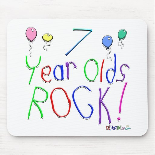 7 Year Olds Rock ! Mouse Pad
