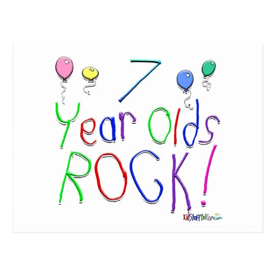 7 Year Olds Rock ! Postcard