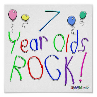 7 Year Olds Rock ! Poster