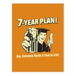 7 Year Plan: Everyone Needs a Goal Postcard