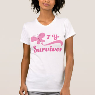 7 Year Survivor Breast Cancer Butterfly Shirt