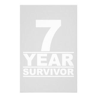 7 year survivor stationery