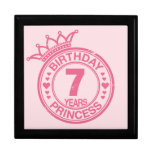 7 years - Birthday Princess - pink Keepsake Boxes