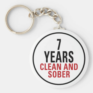 7 Years Clean and Sober Keychain