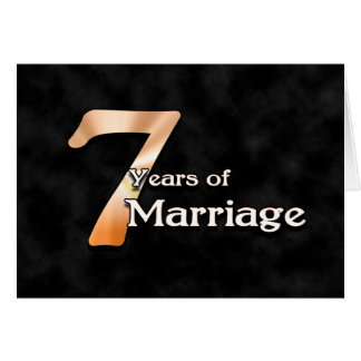 7 Years Of Marriage Wedding Anniversary Card
