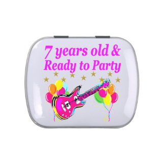 7 YEARS OLD AND READY TO PARTY 7 YR OLD ROCK STAR CANDY TIN