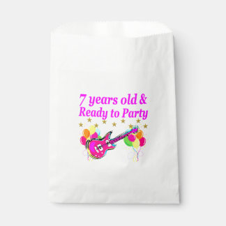 7 YEARS OLD AND READY TO PARTY 7 YR OLD ROCK STAR FAVOR BAG