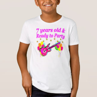 7 YEARS OLD AND READY TO PARTY 7 YR OLD ROCK STAR T-Shirt