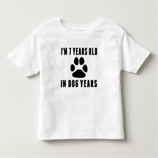 7 Years Old In Dog Years Toddler T-shirt