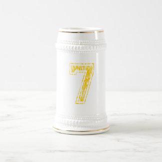 #7 Yellow Varsity Beer Stein