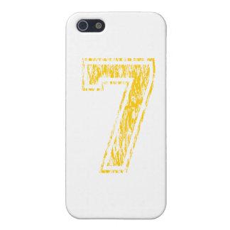 #7 Yellow Varsity iPhone SE/5/5s Case