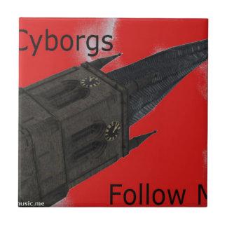 7Cyborgs Azulejo Cuadrado Pequeño