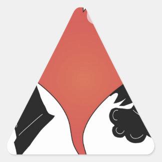 7heart triangle sticker