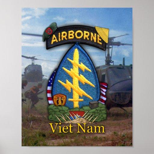 7ma impresión de la guerra de Vietnam de las boina Impresiones