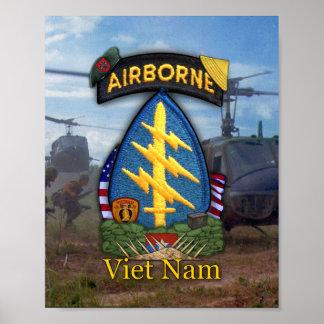 7ma impresión de la guerra de Vietnam de las boina Póster