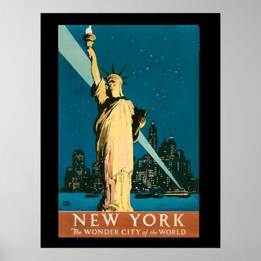 7ma maravilla de Nueva York del mundo Póster