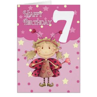 7ma tarjeta de cumpleaños con la hada linda de la