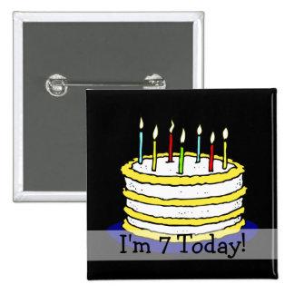 7ma torta de cumpleaños del personalizable soy 7 h pins