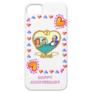 7mo aniversario de boda, cobre funda para iPhone 5 barely there